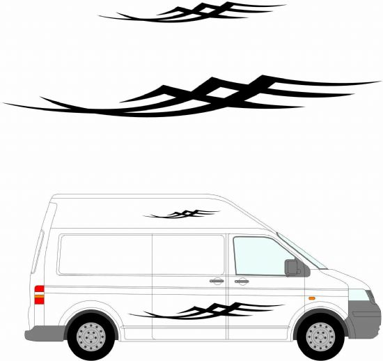 (No.150) MOTORHOME GRAPHICS STICKERS DECALS CAMPER VAN CARAVAN UNIVERSAL FITTING